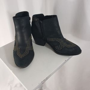 "Lucky Brand ankle booties black size 7 1/2"" heels"